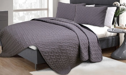 ThreePiece Embossed Comforter Set: Queen $35 or King $45 Don't Pay up to $129