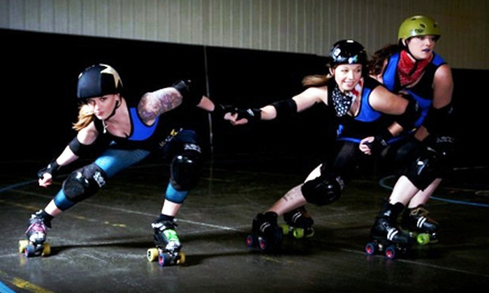 Black-n-Bluegrass Rollergirls - Taylor Mill: Black-n-Bluegrass Rollergirls Roller Derby at The Bank of Kentucky Center (Up to 80% Off). Three Options Available.