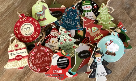 Personalized Porcelain Christmas Ornaments from Qualtry (Up to 70% Off)