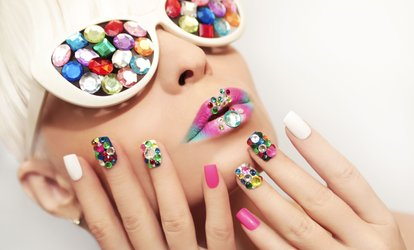 image for Gel Polish on Hands, Feet or Both at Angel Nail and Beauty Salon (Up to 62% Off)