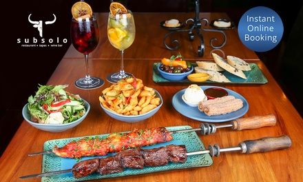 ThreeCourse Spanish Feast with Sangria for Two $89, Four $178 or Six People $265 at Subsolo Up to $444 Value