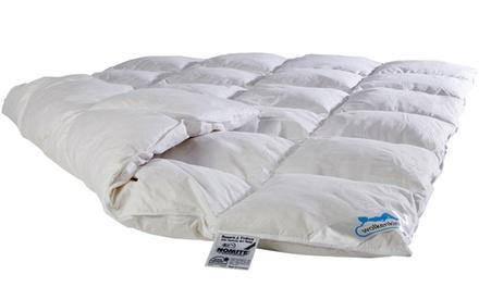Wolkenkind Premium Daunendecke Nepal mit Kassettensteppung für den perfekten Schlafkomfort in der Größe nach Wahl