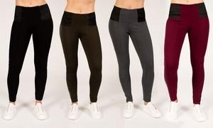 Rag Women's High-Waisted Elastic-Band Leggings; Plus Sizes Available