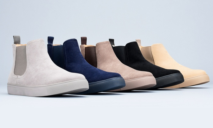 Suede Casual Chelsea Boots (Sizes