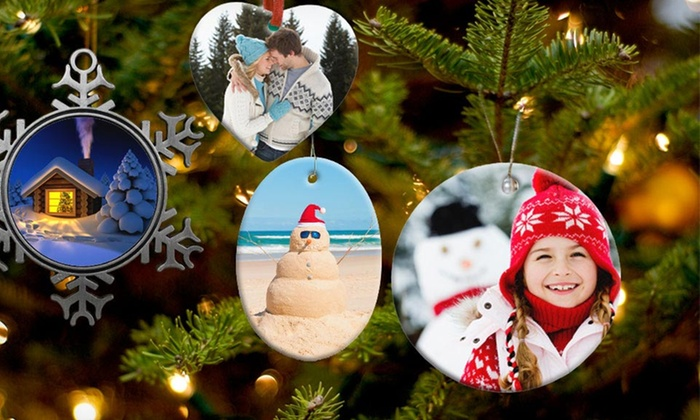 Custom Ornaments from Picture it On Canvas: Customizable Ceramic or Pewter Ornaments from Picture It on Canvas. Free Shipping.