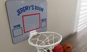 Qualtry: One or Two Personalized Basketball Hoops from Qualtry (Up to 52% Off)