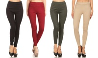 Women's High-Waist Pull-On Stretch Skinny Jeggings