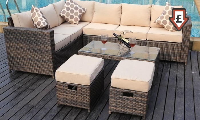 groupon goods global gmbh four eight or nine seat lotus rattan