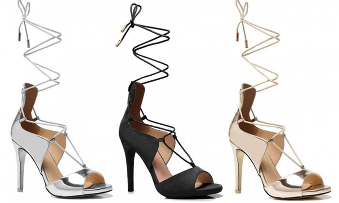 Uitgelezene Dames sexy sandalen met hak en veters | Groupon Goods DL-53