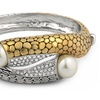 18K White and Yellow Gold Plated Cuff Bangle