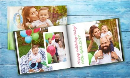 A4 fotoalbum met harde kaft, online te personaliseren bij Printerpix