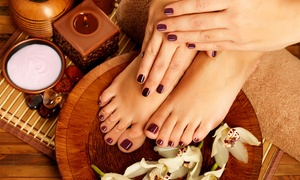 Emerald Therapies: Shellac Manicure and Pedicure for One ($35) or Two People ($69) at Emerald Therapies (Up to $180 Value)