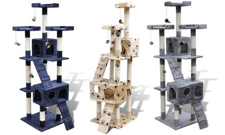 Rascadores de 170 cm con 2 casetas para gatos desde 69.99€