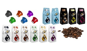 Espresso: 100, 200 ou 300 capsules compatibles Nespresso ou 1 kg de café en grain ou moulu dès 9,99 € avec Espresso