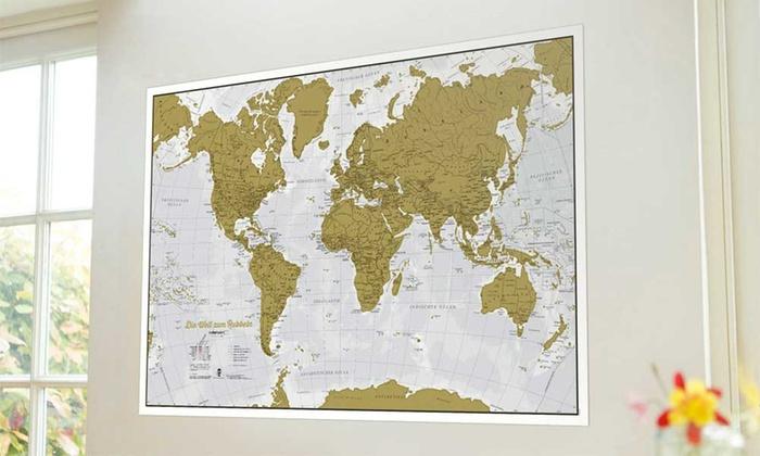 Weltkarte Zum Rubbeln Groupon