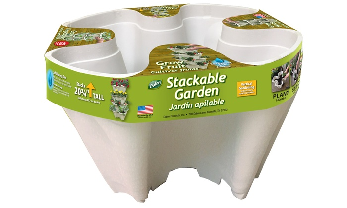 up to 25 off on stackable planters 4 pack groupon goods