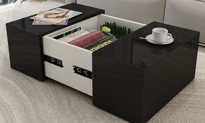 Table Basse Coffre Laquee Groupon Shopping