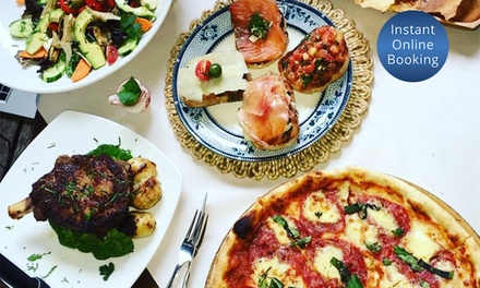 TwoCourse Italian Dinner with Wine for Two $49, Four $98 or Six $147 at Caffe Roma Up to $372 Value