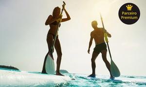 Stand Up Paddle Quebra Mar: 1, 2 ou 4 aulas de stand-up paddle (opção com pacote com 10 fotos em HD) com a Quebra Mar – Barra da Tijuca