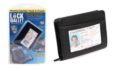 Leather Anti Theft Protection Wallet