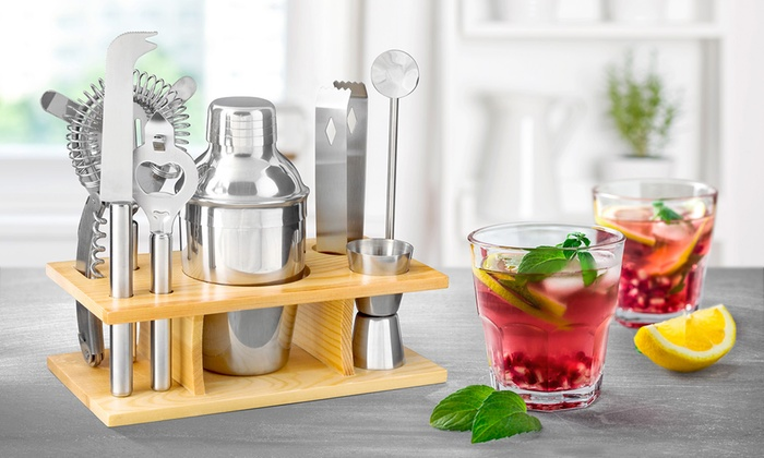 One or Two 10-Piece Cocktail Maker Sets