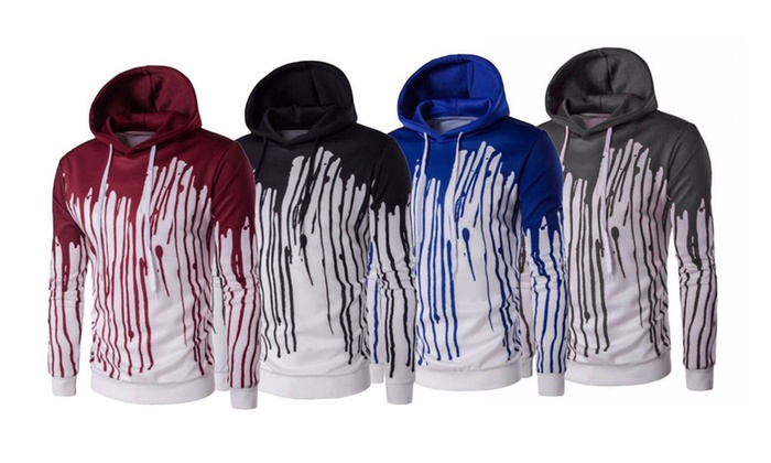 Up To 66% Off on Men's Splash Pullover Hoodie | Groupon Goods