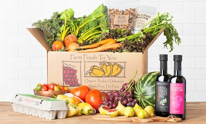 $17 for One Box of Delivered Organic Produce from Farm Fresh To You ($33 Value)