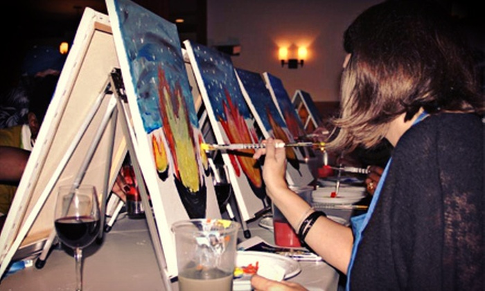 Drink and Dabble - Multiple Locations: $20 for a Three-Hour Painting Class at Drink and Dabble ($40 Value)