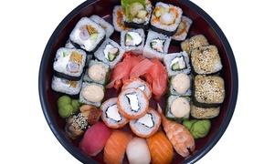 LA KANTINA: Sushi box d'asporto da 56 pezzi misti con uramaki, hosomaki e nigiri al ristorante La Kantina (sconto 60%)