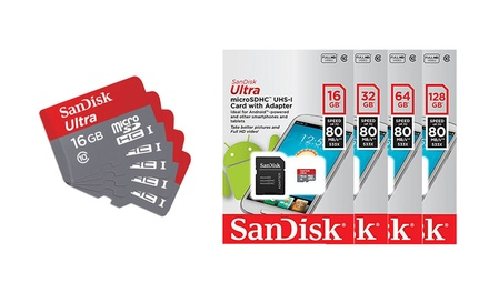 .95 SanDisk ULTRA microSD UHSI Card with Adapter: 16GB, 32GB, 64GB, 128GB