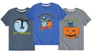 Toddlers' and Kids' Licensed Pete The Cat Halloween T-Shirt