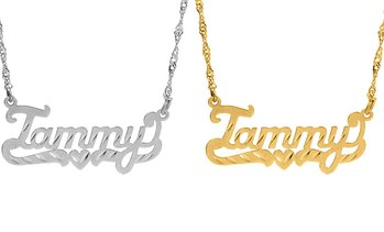 Up to 91% Off Diamond Cut Custom Name Necklace