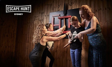 Escape Room Game For Two ($59), Three ($84), Four ($105) or Five People ($126) at Escape Hunt (Up to $180 Value)