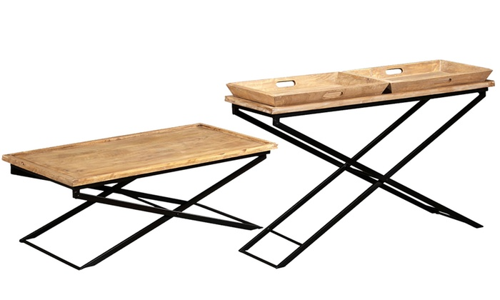 Mango Coffee Table With Trays Groupon