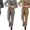 Alberto Cardinali Men's Wool Touch Slim-Fit 3-Piece Suit