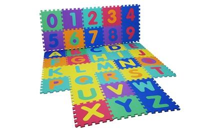 1 ou 2 tapis de jeux en mousse Puzzle 36 pièces Chiffres et Lettres (SaintEtienne)