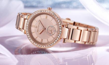 Montre ornée de cristaux Swarovski® de la marque Timothy Stone collection Elle,à 29,90€ (-80%), livraison offerte