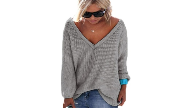 Womens V Neck Sweater: One ($19) or Two ($29)