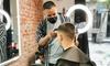 Sesión de peluquería para hombre
