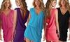 1x oder 2x Strandkleid mit V-Ausschnitt in der Farbe nach Wahl