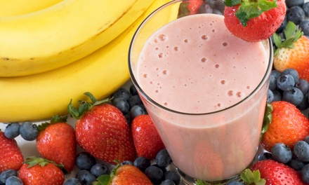 $12 for Four Groupons, Each Good for $5 Worth of Smoothies and Juices at Nu Cafe ($20 Value)