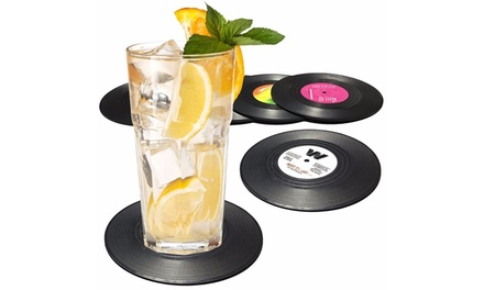 Vinyl Record Cup Coasters: Pack of 6 ($10.95) or Pack of 12 ($17.95)