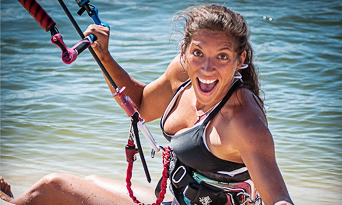 Live2kite - Multiple Locations: Group Kitesurfing Lesson for Two Hours on Land or Three Hours on Water at Live2kite (Up to 53% Off)