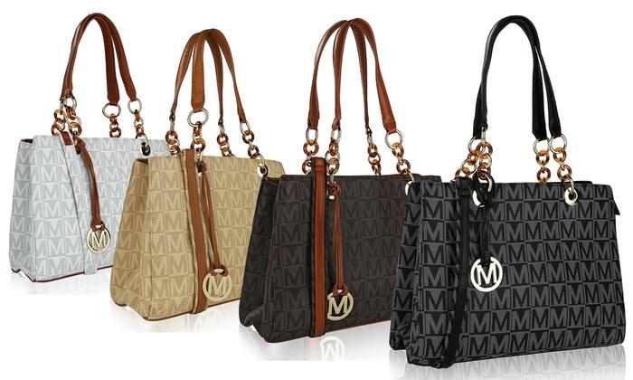 ad02a7b87633 MKF Collection by Mia K. Farrow Camylle Logo Handbag