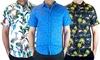 Quarry Men's Short-Sleeve Printed Woven Shirts: Quarry Men's Short-Sleeve Printed Woven Shirts