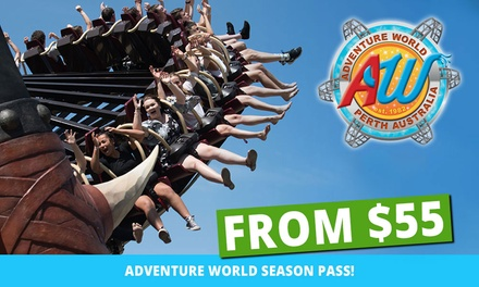 Adventure World Season Pass: ($125) Child, ($145) Adult, ($55) Senior or (From $380) Family (From $145 Value)