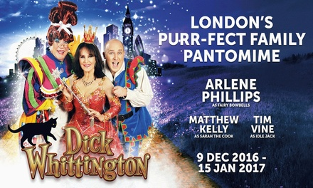 Dick Whittington, New Wimbledon Theatre, 3-5 and 10-13 January 2017 (Up to 41% Off)