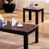 Samantha Espresso Transitional Table Set (3-Piece)