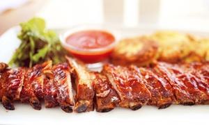 Flamme & Feuer American Diner: Spareribs All-you-can-eat mit Maisbrot, Coleslaw und Nachos für Zwei im Flamme & Feuer American Diner ab 12,90 €