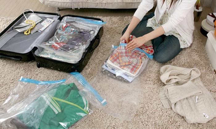 sac de compression voyage groupon shopping. Black Bedroom Furniture Sets. Home Design Ideas